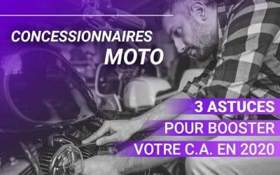 Concessionnaires moto : 3 astuces pour booster votre Chiffre d'Affaires en 2020 !