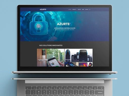 Site vitrine Azurtec et Création de Logo – Spécialiste du contrôle d'accès