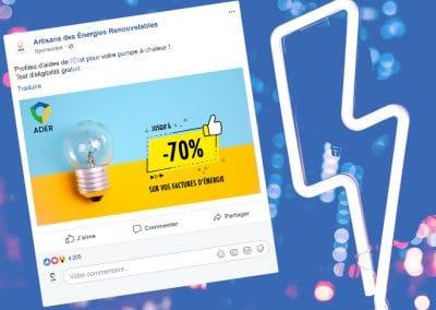 Vidéo et visuels Facebook Ads ADER