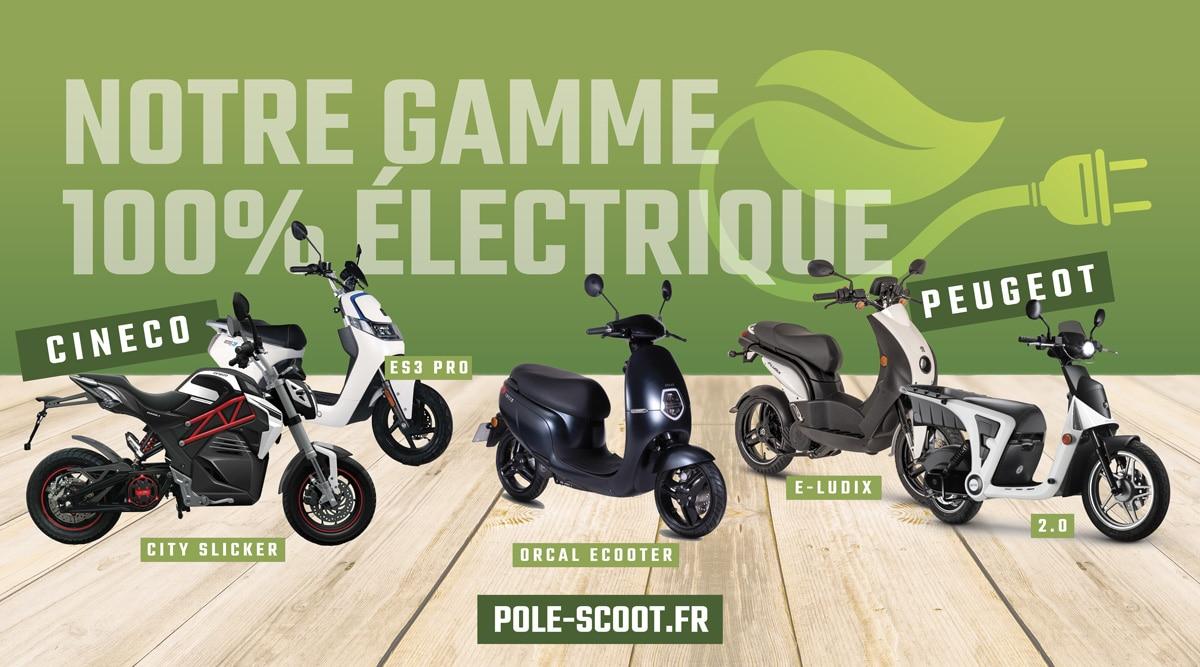 171-95-Electrique Création de supports en vinyle micro-perforé Pôle Scoot