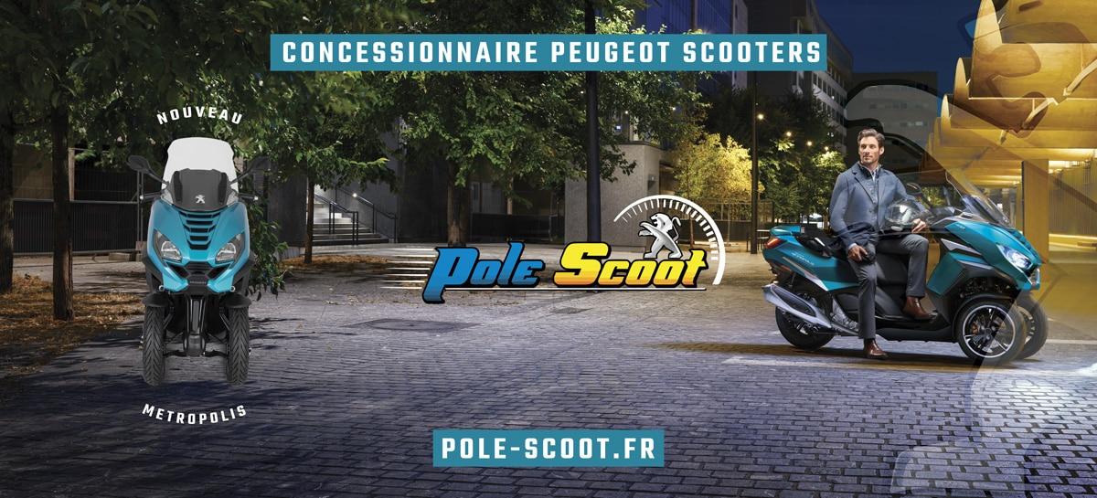 209-95-Metropolis Création de supports en vinyle micro-perforé Pôle Scoot