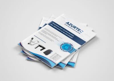 Brochure commerciale et cartes de visite Azurtec