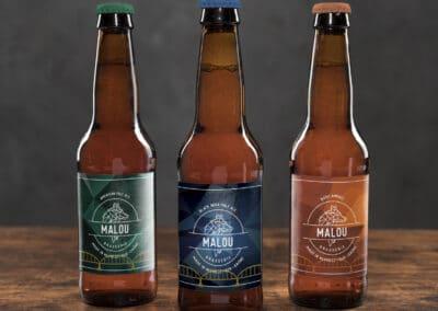 Création de logo et étiquettes pour Malou Brasserie