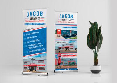 PLV – Roll-ups et oriflammes Jacob Services